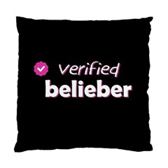 Verified Belieber Standard Cushion Case (one Side) by Valentinaart