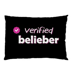 Verified Belieber Pillow Case by Valentinaart