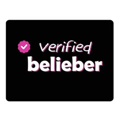 Verified Belieber Fleece Blanket (small) by Valentinaart