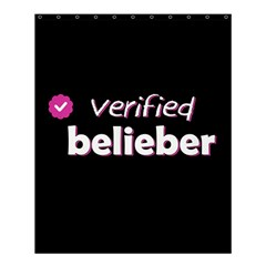 Verified Belieber Shower Curtain 60  X 72  (medium)  by Valentinaart