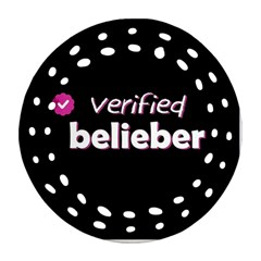 Verified Belieber Round Filigree Ornament (two Sides) by Valentinaart