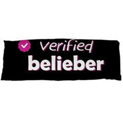 Verified Belieber Body Pillow Case (dakimakura) by Valentinaart