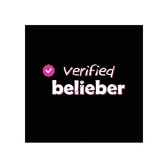 Verified Belieber Acrylic Tangram Puzzle (4  X 4 ) by Valentinaart