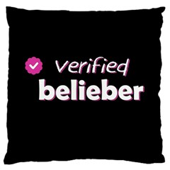 Verified Belieber Large Cushion Case (two Sides) by Valentinaart