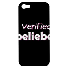 Verified Belieber Apple Iphone 5 Hardshell Case by Valentinaart