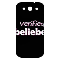 Verified Belieber Samsung Galaxy S3 S Iii Classic Hardshell Back Case by Valentinaart
