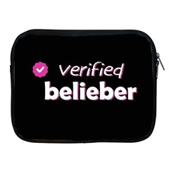 Verified Belieber Apple Ipad 2/3/4 Zipper Cases by Valentinaart