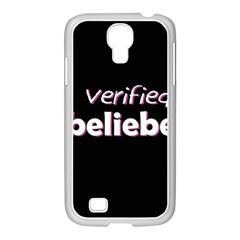 Verified Belieber Samsung Galaxy S4 I9500/ I9505 Case (white) by Valentinaart
