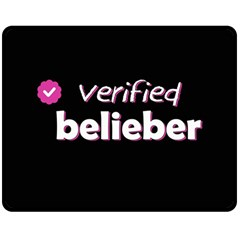 Verified Belieber Double Sided Fleece Blanket (medium)  by Valentinaart