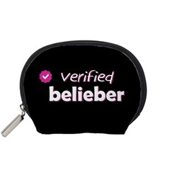 Verified Belieber Accessory Pouches (small)  by Valentinaart