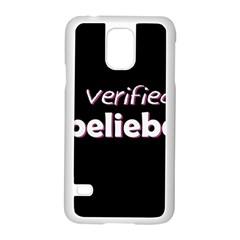 Verified Belieber Samsung Galaxy S5 Case (white) by Valentinaart