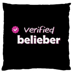 Verified Belieber Large Flano Cushion Case (two Sides) by Valentinaart