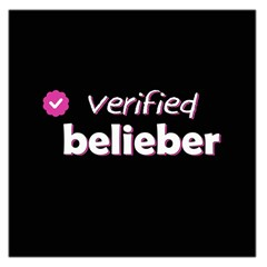 Verified Belieber Large Satin Scarf (square) by Valentinaart