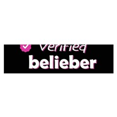 Verified Belieber Satin Scarf (oblong) by Valentinaart