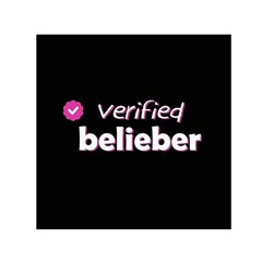 Verified Belieber Small Satin Scarf (square) by Valentinaart