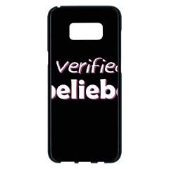 Verified Belieber Samsung Galaxy S8 Plus Black Seamless Case by Valentinaart