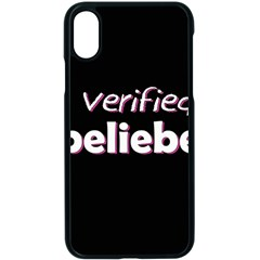 Verified Belieber Apple Iphone X Seamless Case (black) by Valentinaart