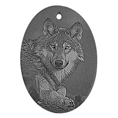 Wolf Forest Animals Ornament (oval)