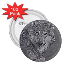 Wolf Forest Animals 2 25  Buttons (100 Pack)