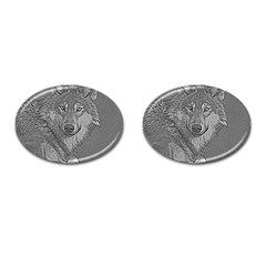 Wolf Forest Animals Cufflinks (oval)