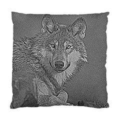 Wolf Forest Animals Standard Cushion Case (two Sides) by BangZart
