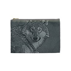 Wolf Forest Animals Cosmetic Bag (medium)