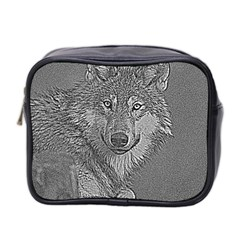 Wolf Forest Animals Mini Toiletries Bag 2 Side by BangZart