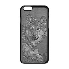 Wolf Forest Animals Apple Iphone 6/6s Black Enamel Case