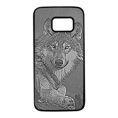 Wolf Forest Animals Samsung Galaxy S7 Black Seamless Case
