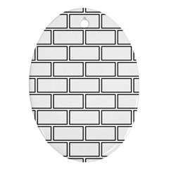 Wall Pattern Rectangle Brick Ornament (oval)