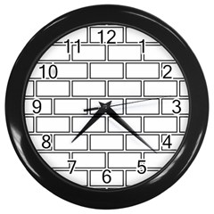 Wall Pattern Rectangle Brick Wall Clocks (black)