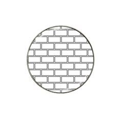 Wall Pattern Rectangle Brick Hat Clip Ball Marker (10 Pack)