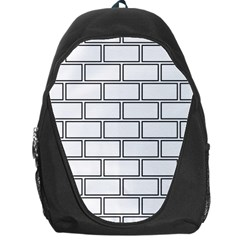 Wall Pattern Rectangle Brick Backpack Bag