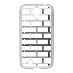 Wall Pattern Rectangle Brick Samsung Galaxy S4 I9500/ I9505 Case (white)