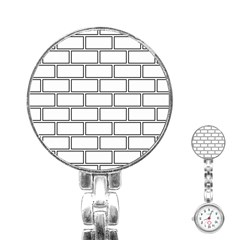 Wall Pattern Rectangle Brick Stainless Steel Nurses Watch