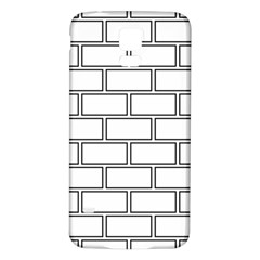 Wall Pattern Rectangle Brick Samsung Galaxy S5 Back Case (white)
