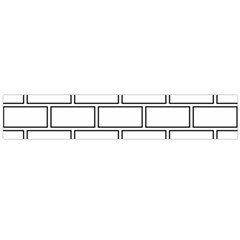 Wall Pattern Rectangle Brick Large Flano Scarf