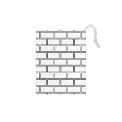 Wall Pattern Rectangle Brick Drawstring Pouches (xs)
