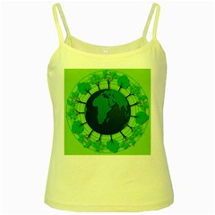 Earth Forest Forestry Lush Green Yellow Spaghetti Tank
