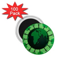Earth Forest Forestry Lush Green 1 75  Magnets (100 Pack)