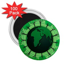 Earth Forest Forestry Lush Green 2 25  Magnets (100 Pack)