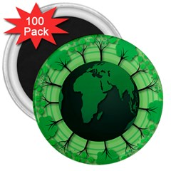 Earth Forest Forestry Lush Green 3  Magnets (100 Pack) by BangZart