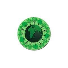 Earth Forest Forestry Lush Green Golf Ball Marker by BangZart