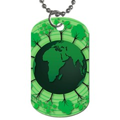 Earth Forest Forestry Lush Green Dog Tag (two Sides) by BangZart