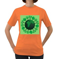 Earth Forest Forestry Lush Green Women s Dark T Shirt