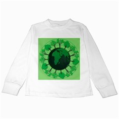 Earth Forest Forestry Lush Green Kids Long Sleeve T Shirts