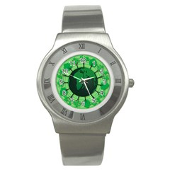 Earth Forest Forestry Lush Green Stainless Steel Watch by BangZart