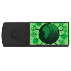 Earth Forest Forestry Lush Green Rectangular Usb Flash Drive by BangZart