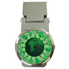 Earth Forest Forestry Lush Green Money Clip Watches
