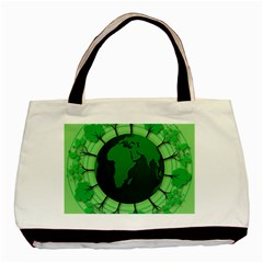 Earth Forest Forestry Lush Green Basic Tote Bag (two Sides) by BangZart
